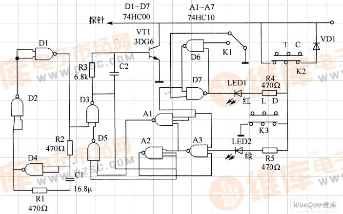 由74HC10GN 74HC00组成的信号发生电路