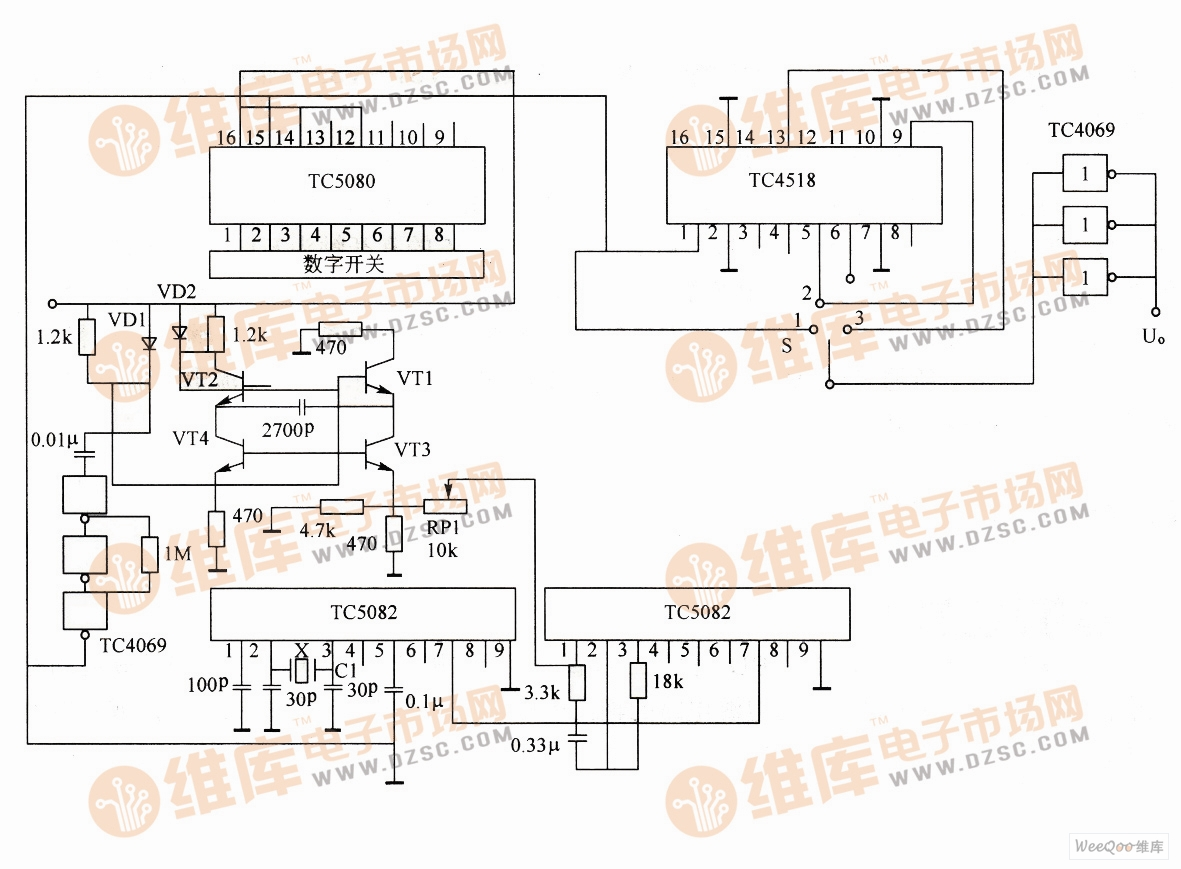 PLL脉冲发生器电路