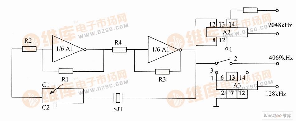 简单的晶体振荡器电路