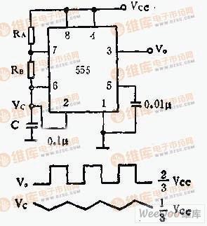 由555芯片构成的振荡器电路振荡电路 其他信号产生器电路图