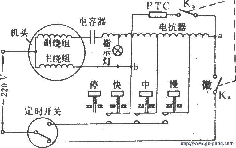 用电容增加电风扇的微风档(一)