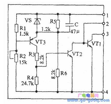 IX0465CE的内部电路结构