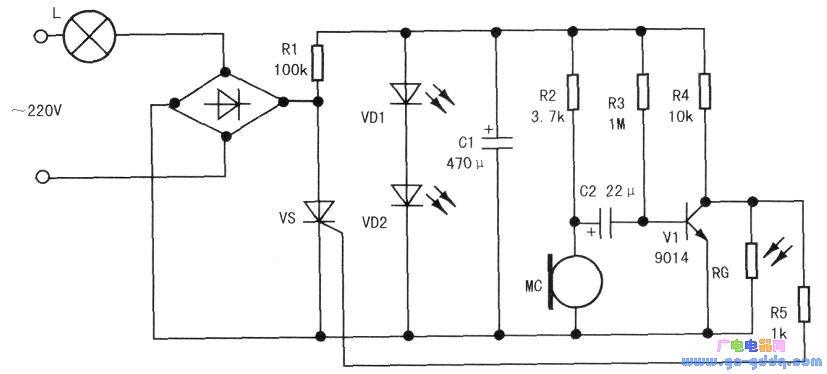 声光控制延时开关电路