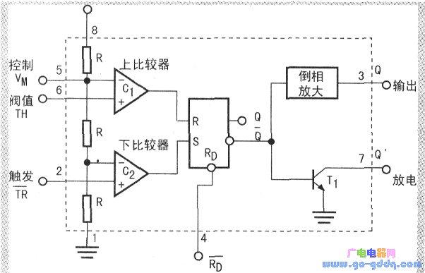 其他光电实用电路图 ->将机器猫升级为智能玩具猫          555定时器