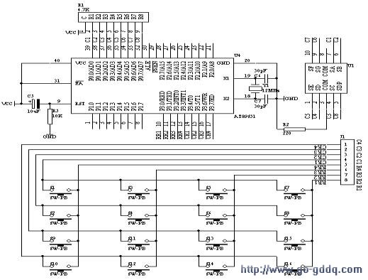 4×4矩阵式键盘识别技术