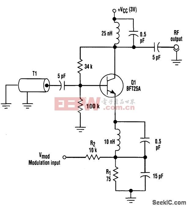 无变容二极管高频调制器