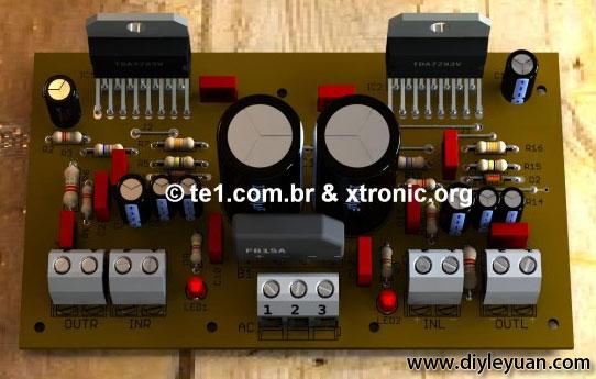 用TDA7293制作的200W立体声音频放大器