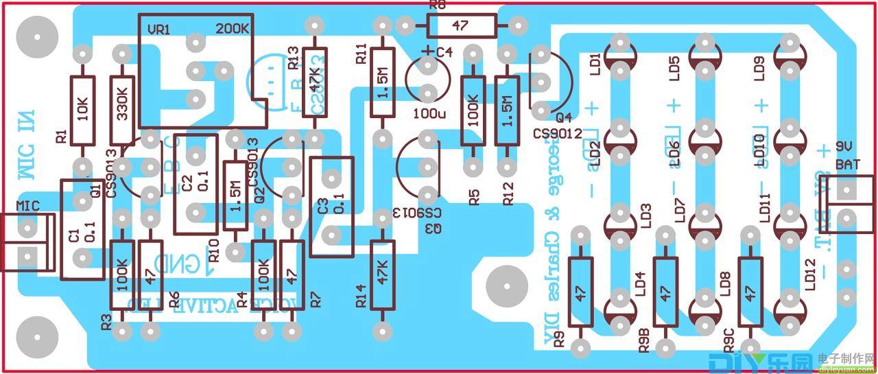 声控LED电路