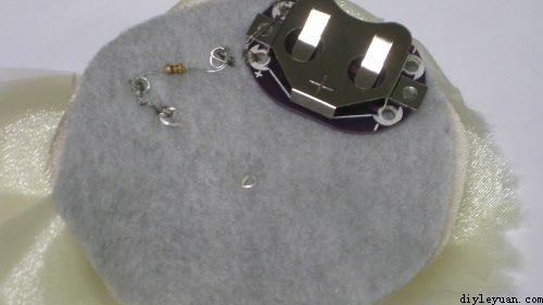LED布艺花的制作教程