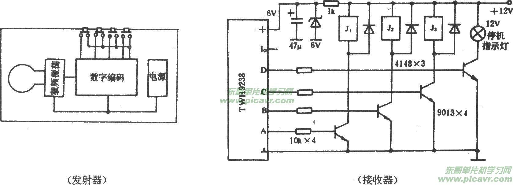 电风扇遥控调速电路图