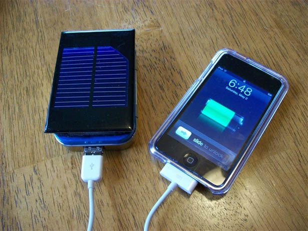 DIY iPhone iPod 太阳能充电器的制作