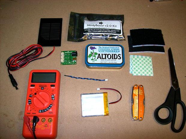 DIY iPhone iPod 太阳能手机充电器的制作