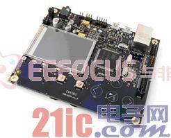 图2 AT32UC3A0512微控制器开发板