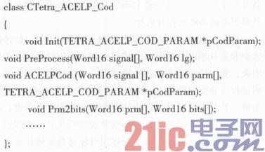 基于ACELP语音编译码算法的软件实现及应用