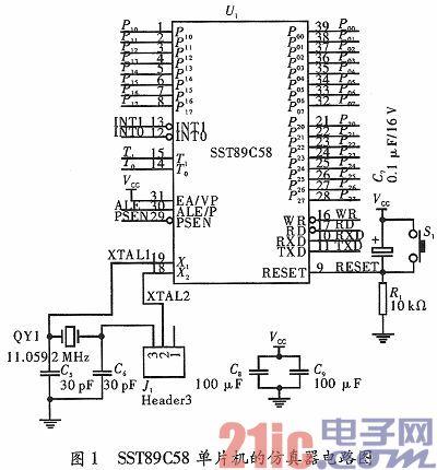 基于SST89C58单片机的仿真器设计与电路构成