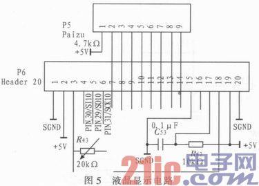 2.3 电压电流采样电路的设计 电压电流采样电路的主要任务是实时采集蓄电池两端的电压和充电电流值,然后分别送入单片机和PWM波产生电路进行分析和处理,以得到相应的控制信号,控制主电路MOS管的通断,从而改变充电电流、电压的大小。具体电路图6所示。 输出电压BAT+经过分压电阻分压,在CD4051的模拟信号输入通道0和通道3分别相应的送入1.25 V的反馈电压,根据单片机输入的选通信号决定输出电压为恒压84.5 V还是伏压81 V。被选通的反馈信号经过低通滤波同时送到硬件控制回路和单片机,为控制算法的分析
