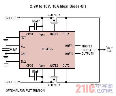 双低电压理想二极管控制器
