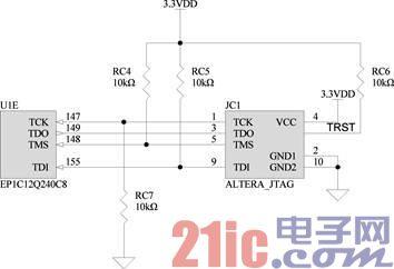 图2.7  JTAG模式原理图