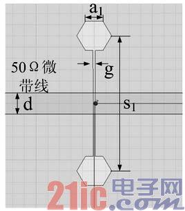 正六边形dgs单元结构如图1(a)所示