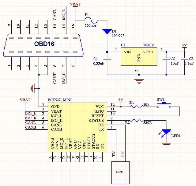 解析汽车电子行车记录仪电路