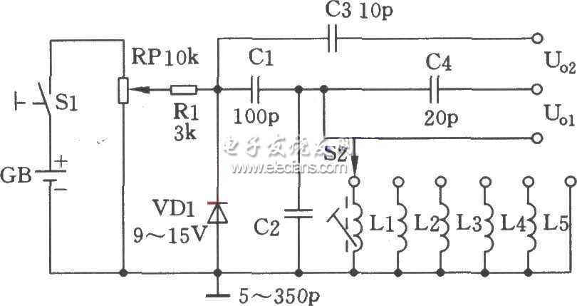 稳压管高频信号发生器电路