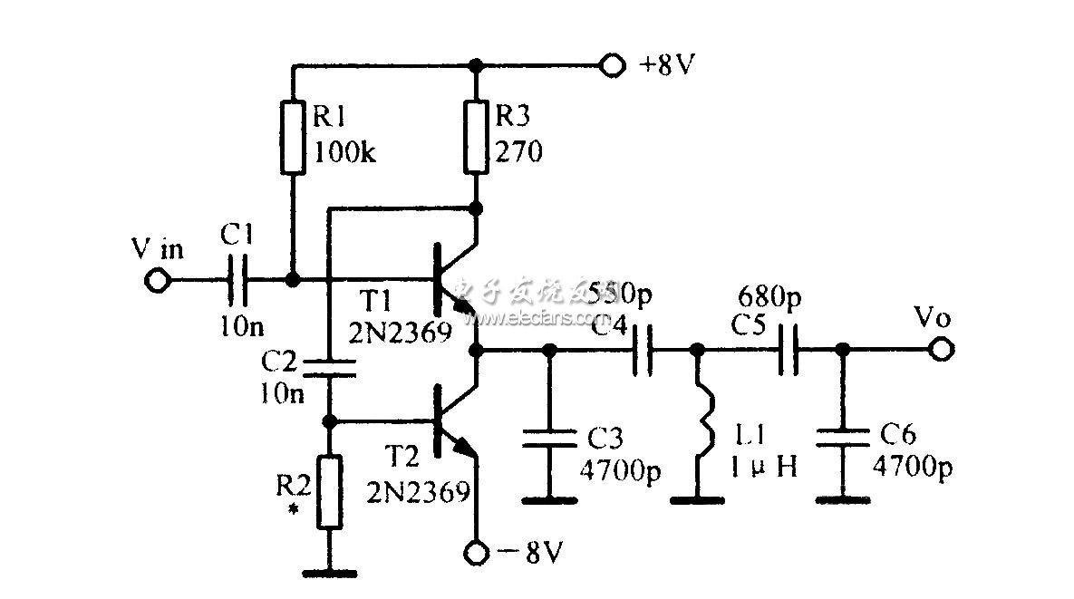 容性负载射极跟随器原理图