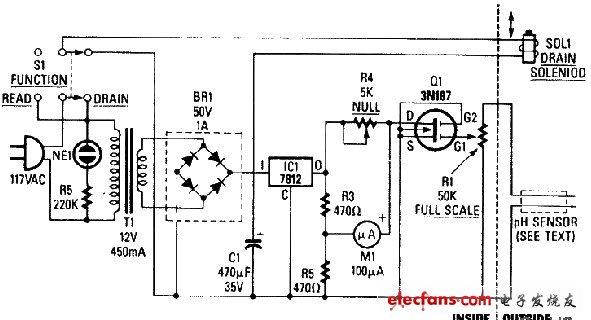 酸雨监控器原理图