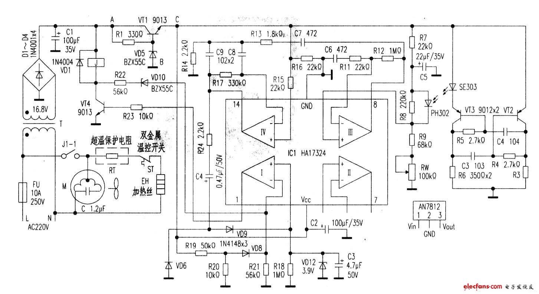 欧莱特SBS-15全自动干手器电路