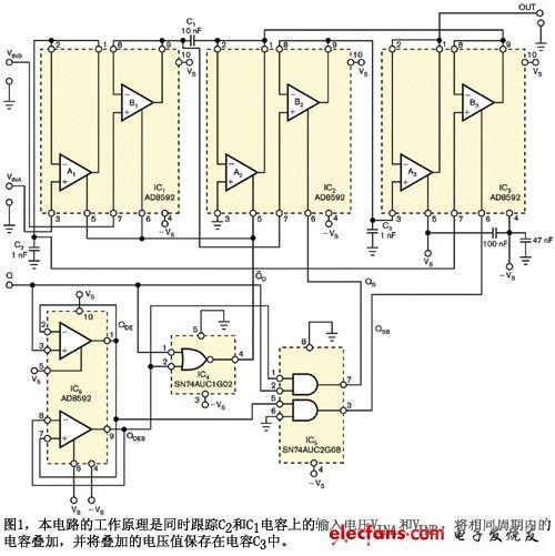 不外接电阻的采样保持放大器电路