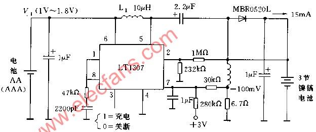 lt1307构成的恒流充电电路