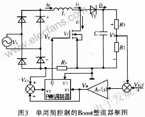 单周期控制的boost整流器电路图