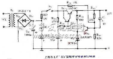 磁带录音机稳压电源电路图