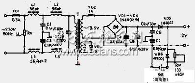 12V直流电源电路图片