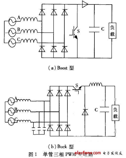 单管三相PWM整流电路(无能量反馈)