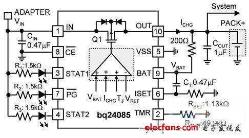 电池充电器应用电路