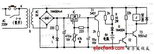 电瓶充电器电路图