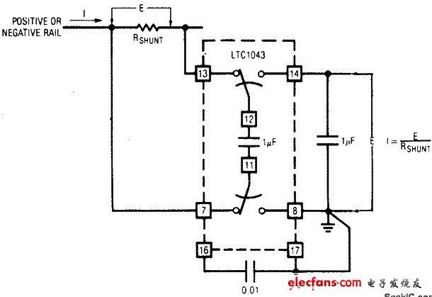 电轨的电流感应电路