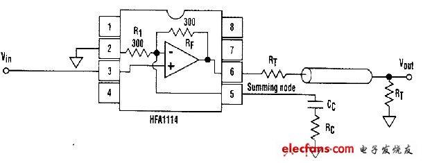 视频线缆驱动器原理图