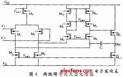低电压CMOS两级OTA电路