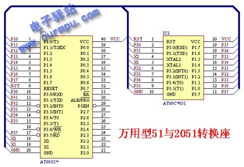 51单片机直接驱动共阴极数码管