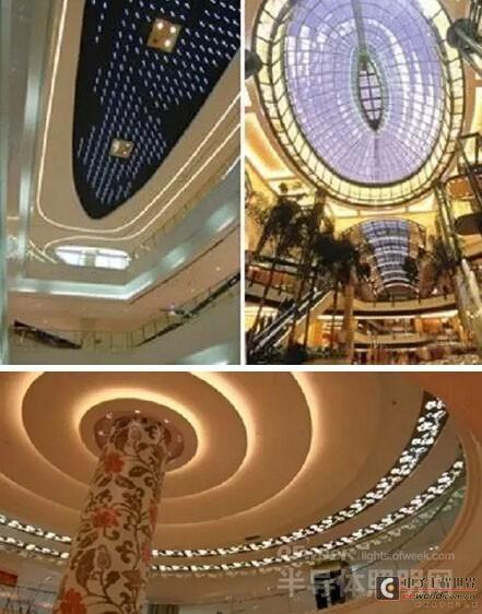 商场led照明中空间类型与设计范围的应用分析