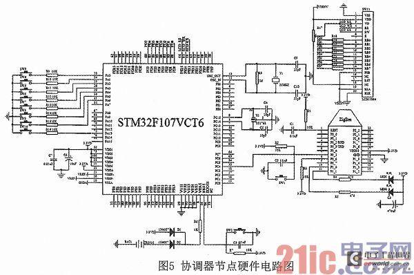 > 基于zigbee和stm32的室内智能照明系统的设计  矩阵键盘电路采用2&