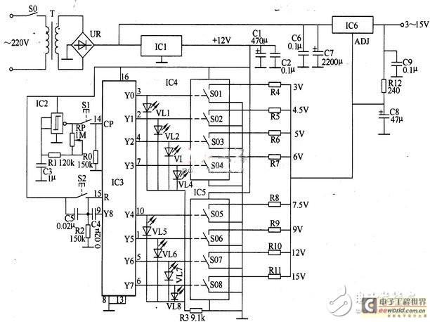 数控直流稳压电源电路设计图片