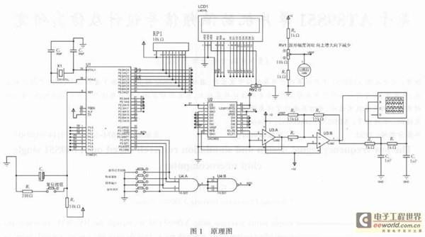 基于单片机函数 信号发生器原理接线图如图1所示.