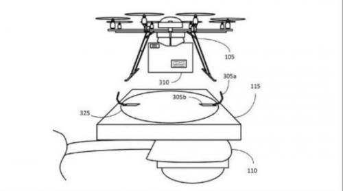 电梯简笔画-路灯秒变飞机场,亚马逊无人机专利居然这么酷