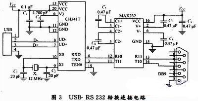 简单usb转串口(rs232)电路图