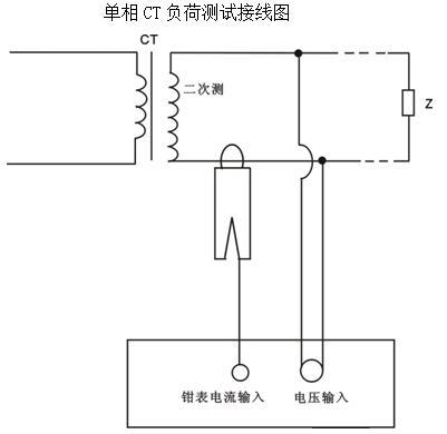 接线图 单相ct负荷测试接线图  2.